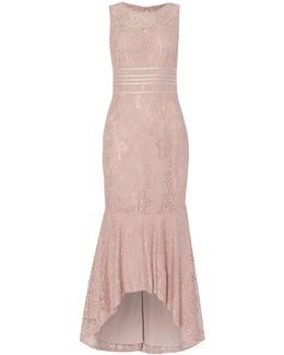 Midi Lace Dress With Banding