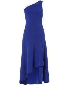 Cap Sleeved Lace Cold Shoulder Dress
