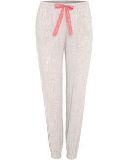 Cuffed Geo Print Pyjama Pant