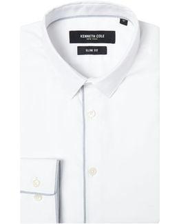 Silver Slim Fit Textured Shirt