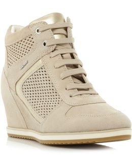 Illusion B Lace Up Punched Trainers