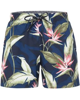 Paradise Flower Print Swim Shorts