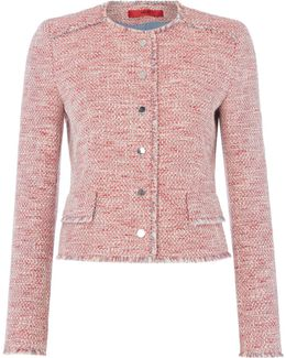Longsleeve Textured Button Front Jacket