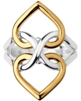 Infinite Love Silver & Gold Vermeil Ring