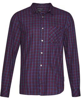 Men's Soft Cotton Twill Check Shirt