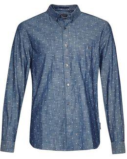 Dot Printed Slub Shirt