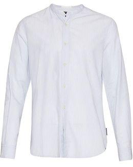Core Tech Poplin Grandad Collar Shirt