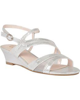 Desponia Shimmer Wedge Sandals