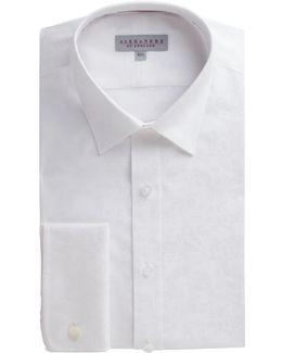 White Rose Jacquard Shirt