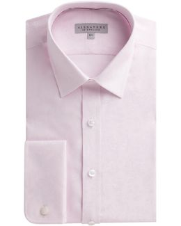 Pink Micro Jacquard Shirt