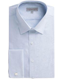 Blue Rose Jacquard Shirt