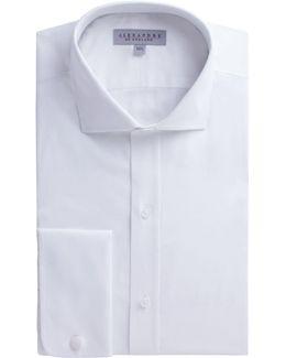 White Twill Stripe Shirt
