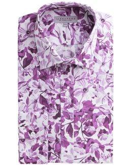 Aubergine Floral Shirt