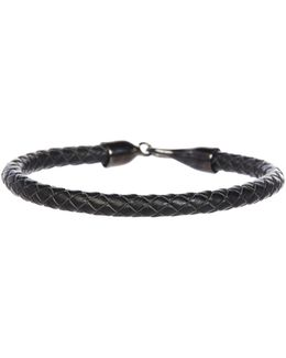 Woven Leather Hook Bracelet