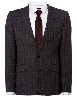 Bruckner Checked Slim Fit Suit Jacket