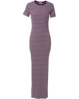 Fitted Stripe Maxi Dress