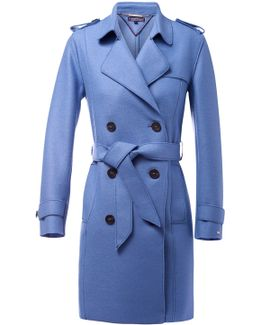 Beth Boiled Wool Trench Coat