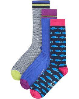 Bethanl Organic Cotton Sock, 3-pack Gift