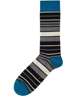 Norcel Organic Cotton Variegated Stripe Sock