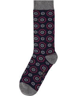 Men's Norria Organic Cotton Circle And Spot Socks