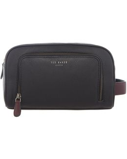 Moofasa Coloured Leather Washbag