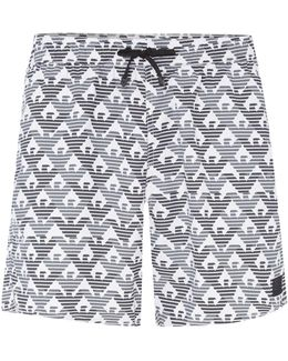 All Over Print Logo Shorts
