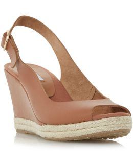Klick Slingback Wedge Sandals