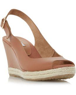 Klick Slingback Wedge Sandals