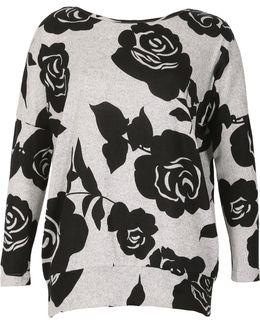 Floral Print Sweat Top