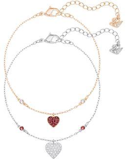 Crystal Wishes Heart Bracelet Set