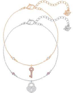 Crystal Wishes Key Bracelet Set