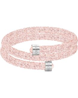 Crystaldust Stainless Steel Double Bangle Bracelet