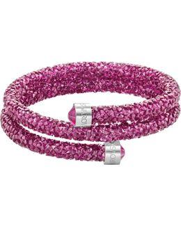 Crystaldust Double Bangle, Pink