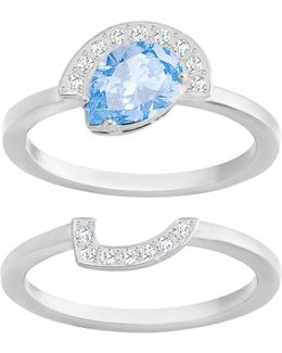 Gallery Pear Ring Set, Blue