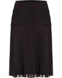Pleat And Ruffle Detail Skirt