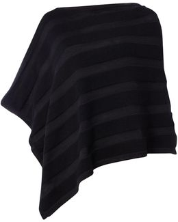 Long Sleeved Knitted Cape In Nero