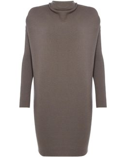 Cowl Neck Knitted Jumper In Fango
