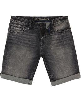 Slim Short - Black Pearl Denim Shorts