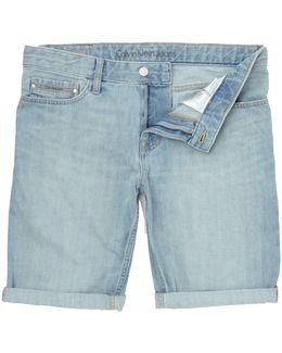 Shore Blue Slim Shorts