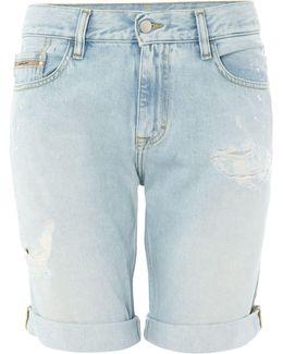 Vintage Splatter Slim Shorts