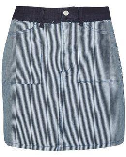 Stripe Mash Up Mini Skirt