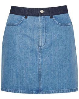Wisteria Blue Denim Mini Skirt