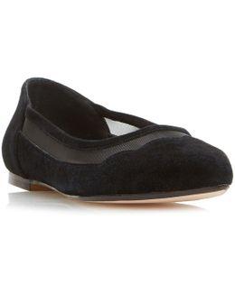 Bonnee Scallop Mesh Flat Shoes