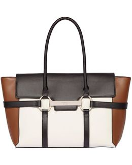 Barbican Large Flapover Tote Bag
