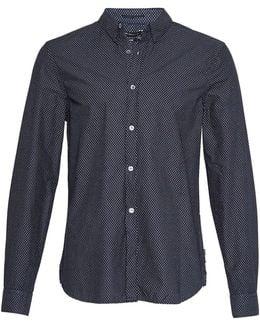 Summer Divided Dot Slim Fit Shirt