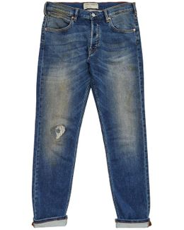 Plaited Stretch Distressed Jeans