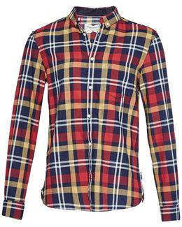 Indigo Oxford Check Shirt
