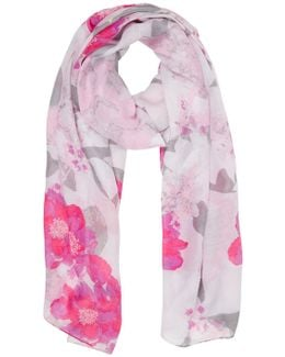 Neo Floral Print Scarf