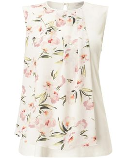 Petite Floral Woven Front Top