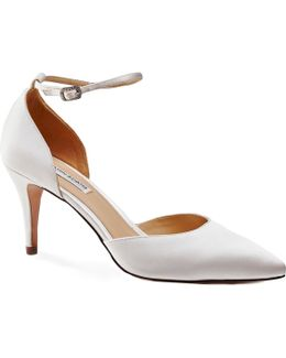 Cora Two Part Pointed Toe Court Shoes